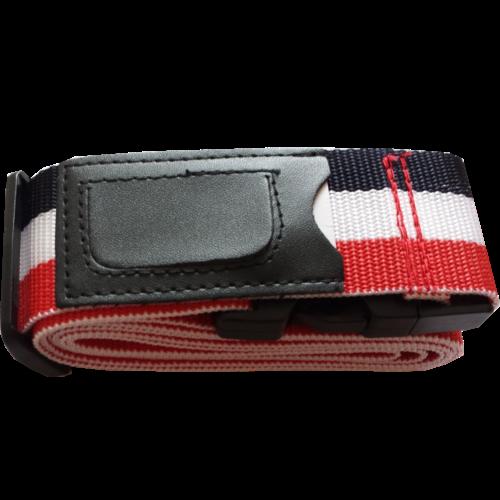 Kofferriem inclusief kofferlabel Rood/Wit/Blauw