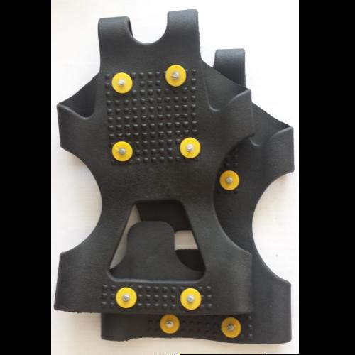 Anti glij-ijzers van rubber met spikes maat M