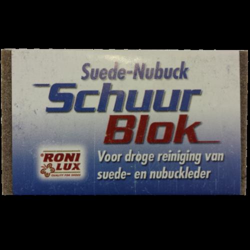 Ronilux Schuurblok voor Suede- en Nubuckleer