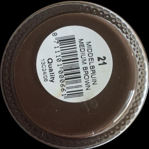 Sterkdekkende schoencrème Middel Bruin - Sterkdekkende Schoensmeer Middel Bruin - Sterkdekkende Shoe Cream Middel Bruin