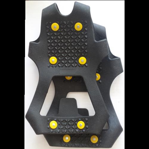 Anti glij-ijzers van rubber met spikes maat L
