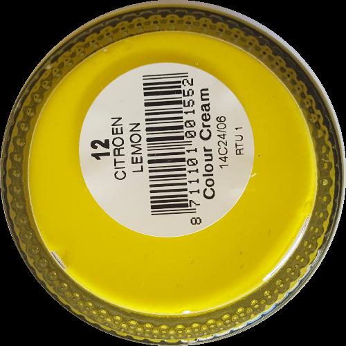 Sterkdekkende schoencrème Citroengeel - Sterkdekkende Schoensmeer Citroengeel - Sterkdekkende Shoe Cream Citroengeel
