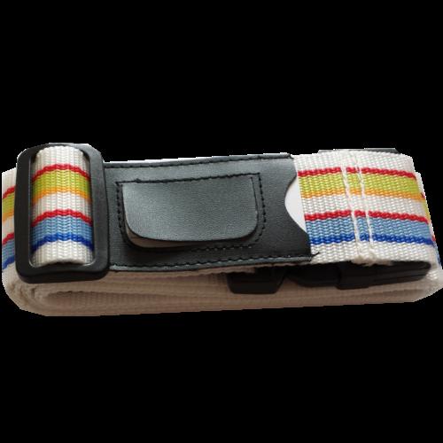 Kofferriem inclusief kofferlabel Meerkleurig