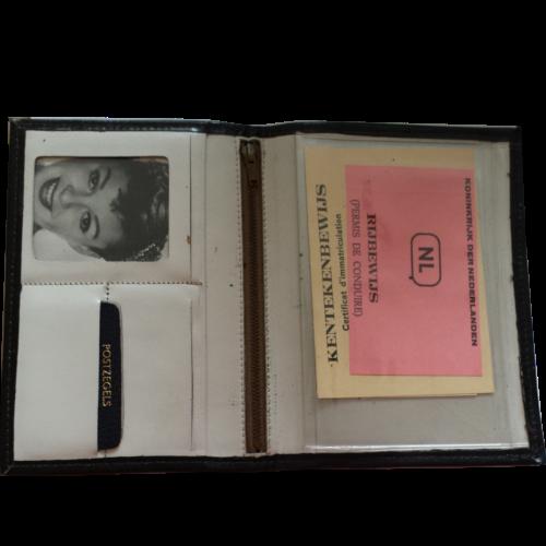 Leren documentenmap voor rijbewijs/kenteken/paspoort Zwart