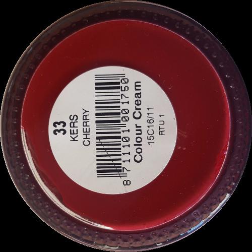 Sterkdekkende schoencrème Kersrood - Sterkdekkende Schoensmeer Kersrood - Sterkdekkende Shoe Cream Kersrood